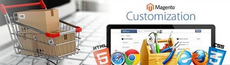 E-commerce website customization using Magento
